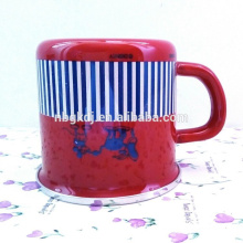 custom cups and mugs & enamel cups of red with cute animal pattern